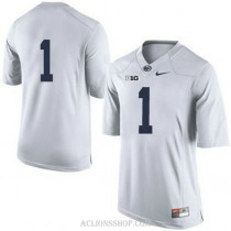 Youth Kj Hamler Penn State Nittany Lions #1 Game White College Football C76 Jersey No Name
