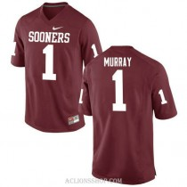 Youth Kyler Murray Oklahoma Sooners #1 Authentic Red College Football C76 Jersey