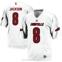 Youth Lamar Jackson Louisville Cardinals #8 Limited White College Football C76 Jersey