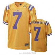 Youth Leonard Fournette Lsu Tigers #7 Authentic Gold College Football C76 Jersey