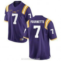 Youth Leonard Fournette Lsu Tigers #7 Authentic Purple College Football C76 Jersey