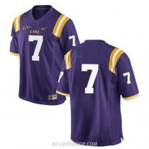 Youth Leonard Fournette Lsu Tigers #7 Game Purple College Football C76 Jersey No Name
