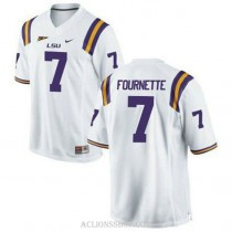 Youth Leonard Fournette Lsu Tigers #7 Game White College Football C76 Jersey