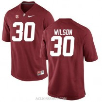 Youth Mack Wilson Alabama Crimson Tide #30 Authentic Red College Football C76 Jersey