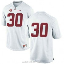 Youth Mack Wilson Alabama Crimson Tide #30 Authentic White College Football C76 Jersey No Name