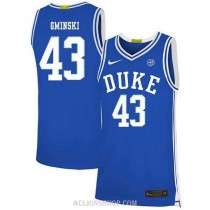 Youth Mike Gminski Duke Blue Devils #43 Authentic Blue College Basketball C76 Jersey