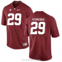 Youth Minkah Fitzpatrick Alabama Crimson Tide #29 Authentic Red College Football C76 Jersey