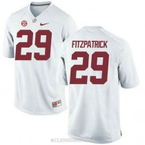 Youth Minkah Fitzpatrick Alabama Crimson Tide #29 Authentic White College Football C76 Jersey
