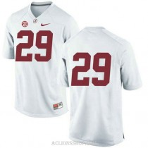 Youth Minkah Fitzpatrick Alabama Crimson Tide #29 Limited White College Football C76 Jersey No Name