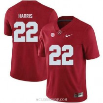 Youth Najee Harris Alabama Crimson Tide #22 Authentic Red College Football C76 Jersey