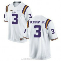 Youth Odell Beckham Jr Lsu Tigers #3 Authentic White College Football C76 Jersey