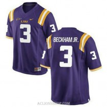 Youth Odell Beckham Jr Lsu Tigers #3 Game Purple College Football C76 Jersey