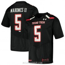 Youth Patrick Mahomes Texas Tech Red Raiders #5 Authentic Black College Football C76 Jersey