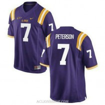 Youth Patrick Peterson Lsu Tigers #7 Authentic Purple College Football C76 Jersey