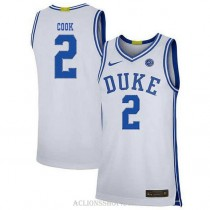 Youth Quinn Cook Duke Blue Devils #2 Authentic White College Basketball C76 Jersey