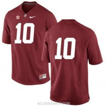 Youth Reuben Foster Alabama Crimson Tide #10 Authentic Red College Football C76 Jersey No Name