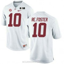 Youth Reuben Foster Alabama Crimson Tide Authentic 2016th Championship White College Football C76 Jersey
