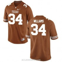 Youth Ricky Williams Texas Longhorns #34 Authentic Orange College Football C76 Jersey