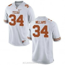 Youth Ricky Williams Texas Longhorns #34 Game White College Football C76 Jersey