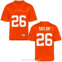 Youth Sean Taylor Miami Hurricanes #26 Authentic Orange College Football C76 Jersey