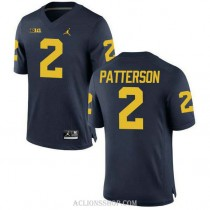 Youth Shea Patterson Michigan Wolverines #2 Authentic Navy College Football C76 Jersey