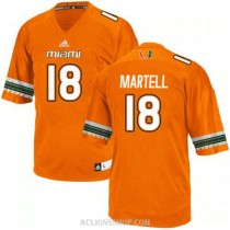 Youth Tate Martell Miami Hurricanes #18 Authentic Orange College Football C76 Jersey