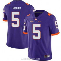Youth Tee Higgins Clemson Tigers #5 Game Purple College Football C76 Jersey