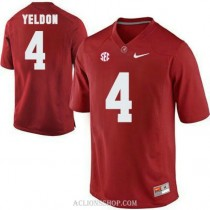 Youth Tj Yeldon Alabama Crimson Tide #4 Authentic Red College Football C76 Jersey