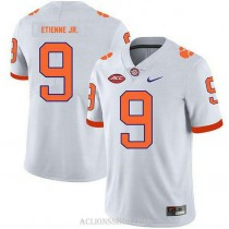 Youth Travis Etienne Clemson Tigers #9 Authentic White College Football C76 Jersey