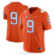 Youth Travis Etienne Clemson Tigers #9 Limited Orange College Football C76 Jersey No Name