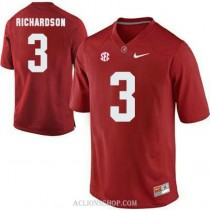 Youth Trent Richardson Alabama Crimson Tide #3 Authentic Red College Football C76 Jersey