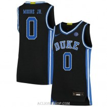 Youth Wendell Moore Jr Duke Blue Devils 0 Authentic Black College Basketball C76 Jersey