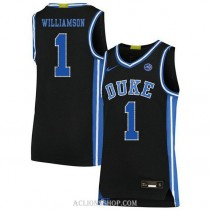 Youth Zion Williamson Duke Blue Devils #1 Authentic Black College Basketball C76 Jersey