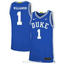 Youth Zion Williamson Duke Blue Devils #1 Authentic Blue College Basketball C76 Jersey