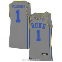 Youth Zion Williamson Duke Blue Devils #1 Authentic Grey College Basketball C76 Jersey
