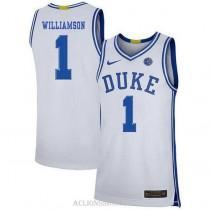 Youth Zion Williamson Duke Blue Devils #1 Limited White College Basketball C76 Jersey