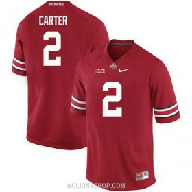 Mens Cris Carter Ohio State Buckeyes #2 Game Red College Football C76 Jersey