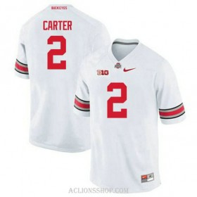 Mens Cris Carter Ohio State Buckeyes #2 Game White College Football C76 Jersey