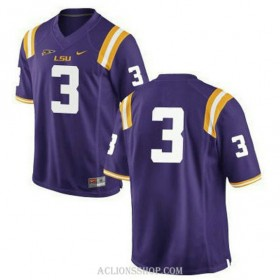 Mens Kevin Faulk Lsu Tigers #3 Game Purple College Football C76 Jersey No Name