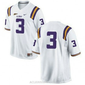 Mens Kevin Faulk Lsu Tigers #3 Game White College Football C76 Jersey No Name