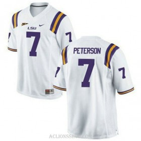 Mens Patrick Peterson Lsu Tigers #7 Game White College Football C76 Jersey