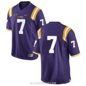 Mens Patrick Peterson Lsu Tigers #7 Limited Purple College Football C76 Jersey No Name