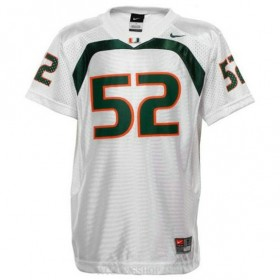 Mens Ray Lewis Miami Hurricanes #52 Game White College Football C76 Jersey