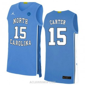 Vince Carter North Carolina Tar Heels #15 Authentic College Basketball Youth C76 Jersey White