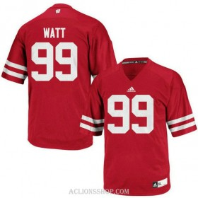 Youth Jj Watt Wisconsin Badgers #99 Authentic Red College Football C76 Jersey