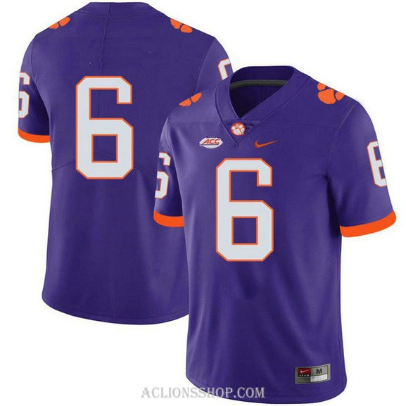 Mens Deandre Hopkins Clemson Tigers #6 Game Purple College Football C76 Jersey No Name