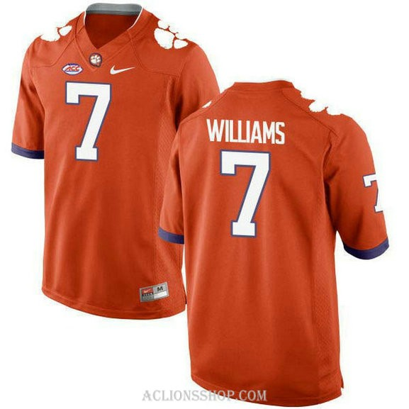 Womens Mike Williams Clemson Tigers #7 New Style Authentic Orange College Football C76 Jersey